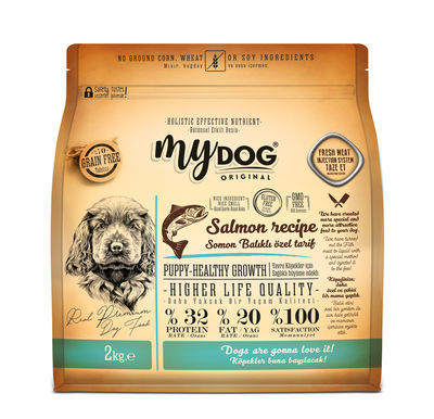 Mydog %70 Tahılsız Somon Balıklı Özel Tarif (2kg) Yavru Köpek Maması