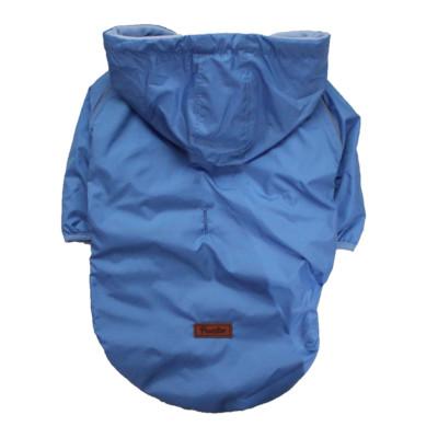Blue Big Coat Küçük Ve Orta Irklar için Tulum-Mont Yağmurluk Köpek Kıyafeti 6XL